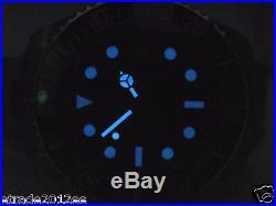 000b PARNIS D BLUE 47MM CASE AUTOMATIC MVT STERILE DIAL STEEL MEN DIVING WATCH