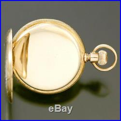10k Yellow Gold A. W. Co. Waltham Hunter Case Pocket Watch Ca1889 6 Size 7 Jewe