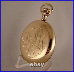 110 YEARS OLD ELGIN 14k GOLD FILLED HUNTER CASE 16s GREAT LOOKING POCKET WATCH