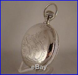 126 YEARS OLD HAMPDEN 17j COIN SILVER HUNTER CASE 18s GREAT LOOKING POCKET WATCH