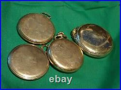 1261 grams 10 year, 20 yr, 25 yr, & 10 K Golf Filled Pocket Watch Case scrap GF