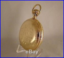 131 YEARS OLD ELGIN 10k GOLD FILLED HUNTER CASE 16s GREAT LOOKING POCKET WATCH