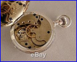 134 Years Old Illinois Coin Silver Hunter Case Great Looking Pocket Watch