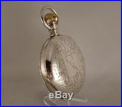 140 YEARS OLD ELGIN H. H. TAYLOR COIN SILVER HUNTER CASE 18s GREAT POCKET WATCH