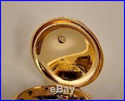 143 YEARS OLD ROCKFORD 14k GOLD FILLED HUNTER CASE 18s KEY WINDING POCKET WATCH