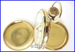 14K Goldfilled ELGIN Pocket Watch S16,7J, Hunter Case, RUN! 104.5 Grams