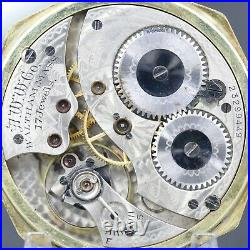 14k Gold 1919 WALTHAM 17 Jewel Mechanical Pocket Watch 12s Octagon Case NICE