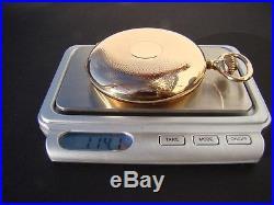 14k SOLID ROSE GOLD FULL HUNTER CASE IWC SCHAFFHAUSEN POCKET WATCH 1910
