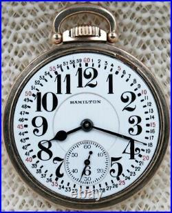 16s Hamilton Model 950B 23 Jewels Model A Case Railroad Pocket Watch. Beauty