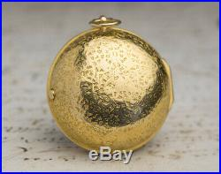 1700s 22k GOLD PAIR CASE VERGE FUSEE Antique Pocket Watch SpindelTaschenUhr