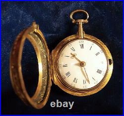 1770s verge fusee horn or shell pair case superb example