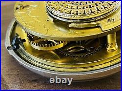 1790 pair case fusee silver pocket watch N Preston London hailsham sussex