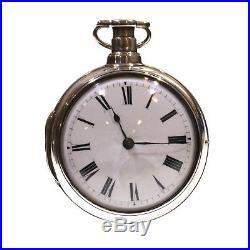 1806 Pair Cased Silver Fusee Verge Pocket Watch