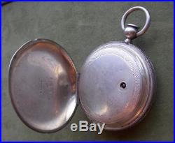 1862 Civil War Era Waltham 18s Hunt Case Key Wind Pocket Watch 1857 WM Ellery 7j