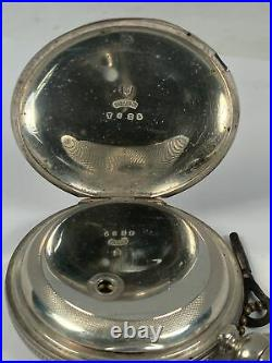 1871 Elgin W. H. Ferry 18 Size Pocket Watch Coin Silver Case
