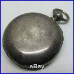 1877 Hampden Heavy Coin Silver Case KW Key WInd Pocket Watch 6.57 Oz total