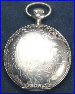 1885 Hampden Grade 34 18s 15j LS Pocket Watch GF Hunter Case RUNS SERVICE