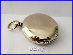 1887 Elgin Size 18s Key Wind 11 Jewel Pocket Watch in Double Hinged OF Case Runs
