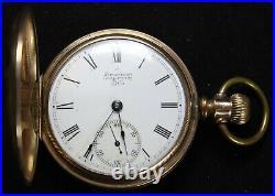 1889 Waltham Grade 1 18s 7j Pocket Watch GF Hunter Case RUNS Needs Service