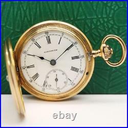 1889's LONGINES 18K SOLID GOLD ENAMEL CASE PENDANT & POCKET WATCH
