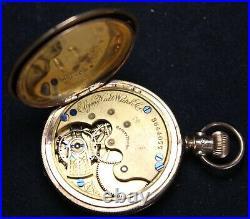 1890 Elgin Grade 95 6s 7j LS Pocket Watch with FANCY GF Hunter Case RUNS