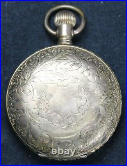 1894 Waltham Grade 1 18s 7j Pocket Watch FANCY STAG Hunter Case Parts/Repair