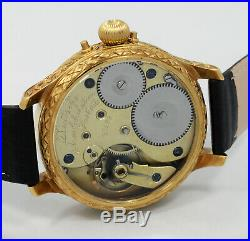 1896 A. LANGE & SOHNE GLASHUTTE high grade pocket watch movement+ new case