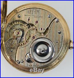 1899 Illinois 23J Sangamo 16s Getty 14K Gold Multi-Color Diamond Hunters Case