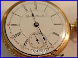 18SZ Elgin Pocket Watch in 20yr GF Case-15Jewel, Serviced, Keeps Time