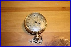18ct yellow gold cased pocket watch (open faced), Roman numerals