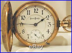 18s 17J Illinois Bunn 5th Pinion Chalmers Patent RR Hunter Case Pocket Watch
