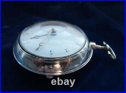 18th century pair case verge watch in superb condition and perfect working order
