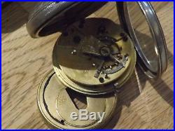1902 Silver Cased English Lever Pocket Watch J Graves Sheffield