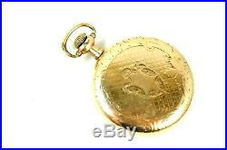 1903 Illinois 16 Size Pocket Watch RUNS With EXCELLENT 20 Year Gold Filled Case NR