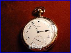 1908 E. Howard 19 Jewel Swing-out PocketWatch GF Case Serial # 999882 e080