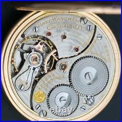 1911 Ball Waltham Solid 14K Rose Gold 16S 21J Railroad Pocket Watch Signed Case
