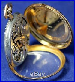 1920 Hamilton 900 12s 19j Pocket Watch 14k Gold Swing-Out Case