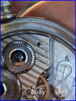 1922 HAMILTON 992 RARE marked MADE IN USA Railroad Pocket Watch with Salesman Case