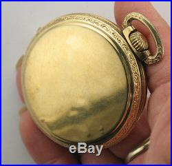 1924 Illinois Bunn Special 10k G. F. Case 21 J Running Condition Pocket Watch