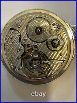 1928 Hamilton 992 Railroad Grade 21 Jewel Montgomery Dial Pocket Watch BOC Case
