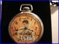1930 16S Ingraham 29 Baseball Babe Ruth Theme Dial & Case Runs Well