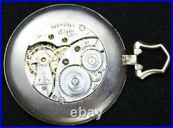 1931 Elgin Grade 487 4/0s 17j Pocket Watch with OCTAGON OF GF Case Parts/Repair