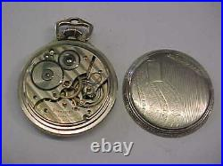 1935 Hamilton 992e Elinvar Railroad Pocket Watch 16s 21j 14k White Gf Ball Case