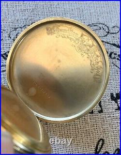 1937 921 Hamilton Pocket Watch 14k Gold Filled Case 10S 21J Model 1 In Case