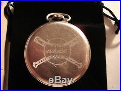 1940s 16S Ingersoll Baseball Babe Ruth Theme Dial & Case Runs Well