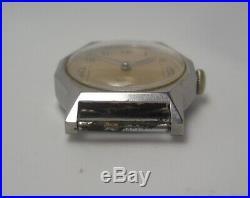 1950's buren watch Borgel Francois (F B) steel Case f1