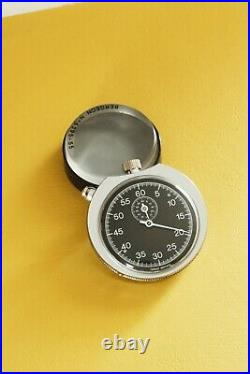 1970s Smiths Rally Timer Dashboard Timer Stopwatch in Chrome ABS Case 60min