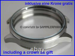 49mm STEEL Grade 316L CASE f INSERTING OF pocket watch movements Omega Doxa etc