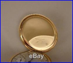 99 YEARS OLD ELGIN 14k GOLD FILLED HUNTER CASE FANCY DIAL 16s GREAT POCKET WATCH