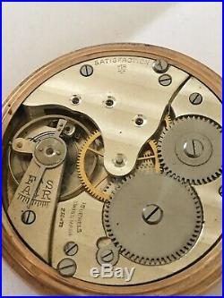 9ct Gold Antique Half Hunter Cased Stem-wind Swiss Made Pocket Watch